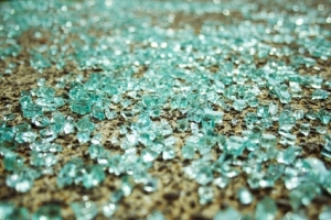 broken glass on ground