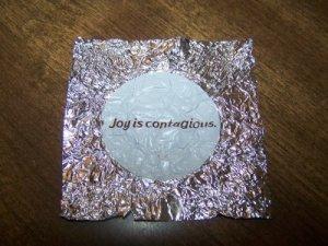 Dove wrapper Joy is contagious