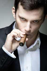 Soulless business man with cigar