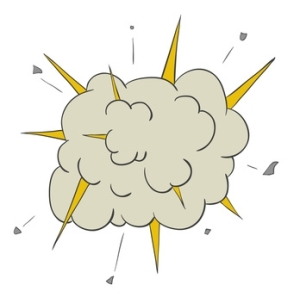 illustration of exploding cloud