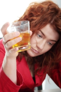 Redheaded woman alcoholic