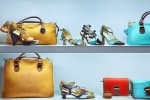 fashionable shoes and purses