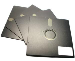 five inch floppy disks