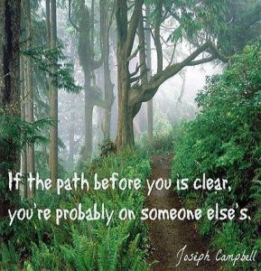 So whose path are you on, anyway?