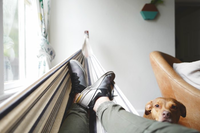 guy indoor hammock drew-coffman-125736-unsplash