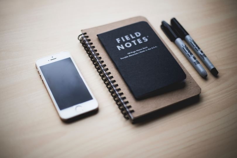 field notes phone sharpies
